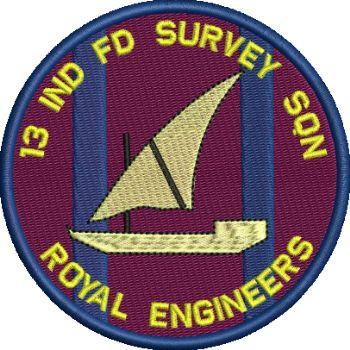 13 Ind Fd Survey Sqn embroidered Badge SALE